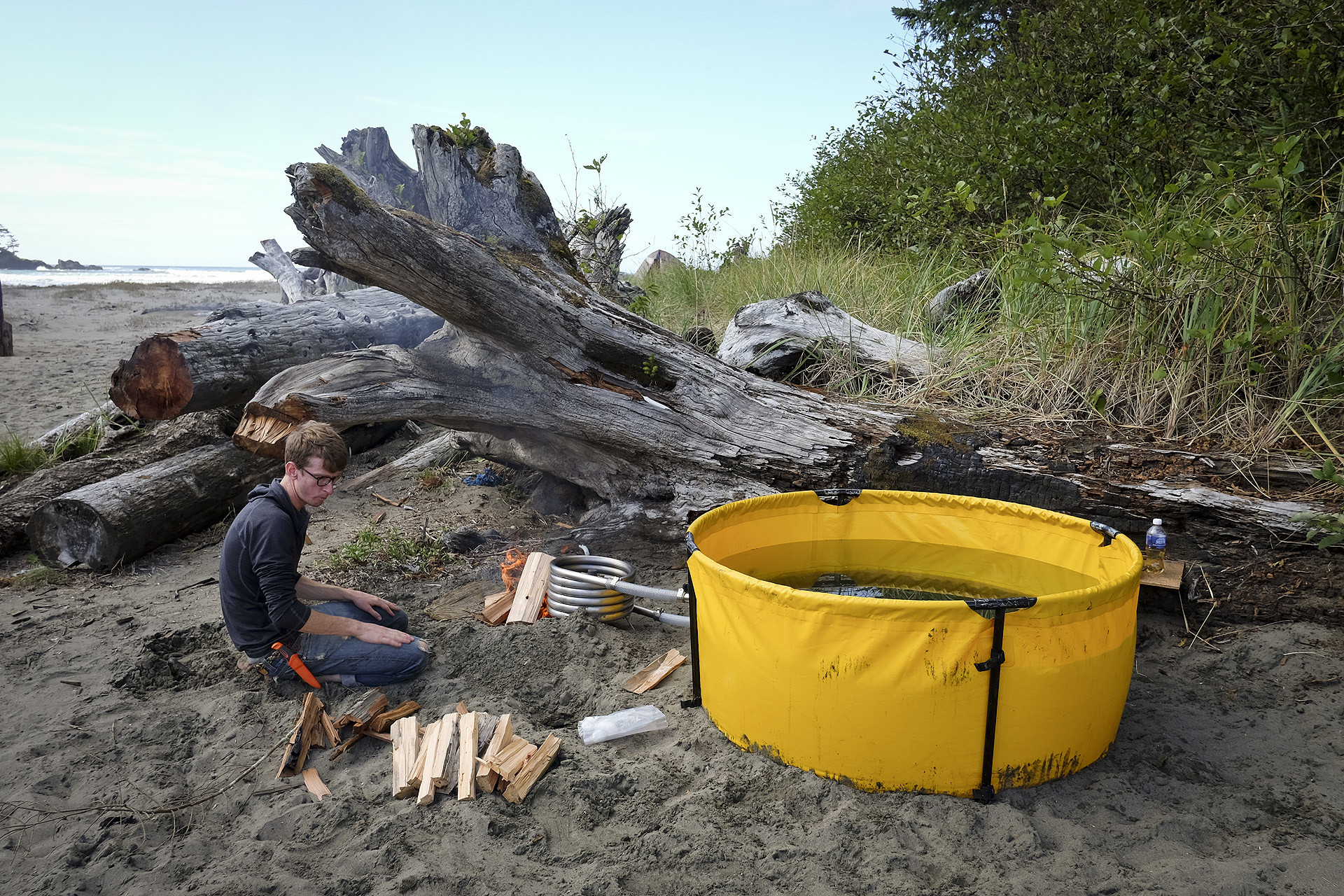 Original Nomad Collapsible Tub In Use